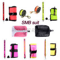 reelwraps combination bundle equipment bag net bag portable set SMB diving scuba diving bag jellyfish Diving reel Technical Divg