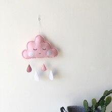 home decoration Style 2 (powder cloud + white raindrops) Felt raindrop cloud pendant Children's tent room цена
