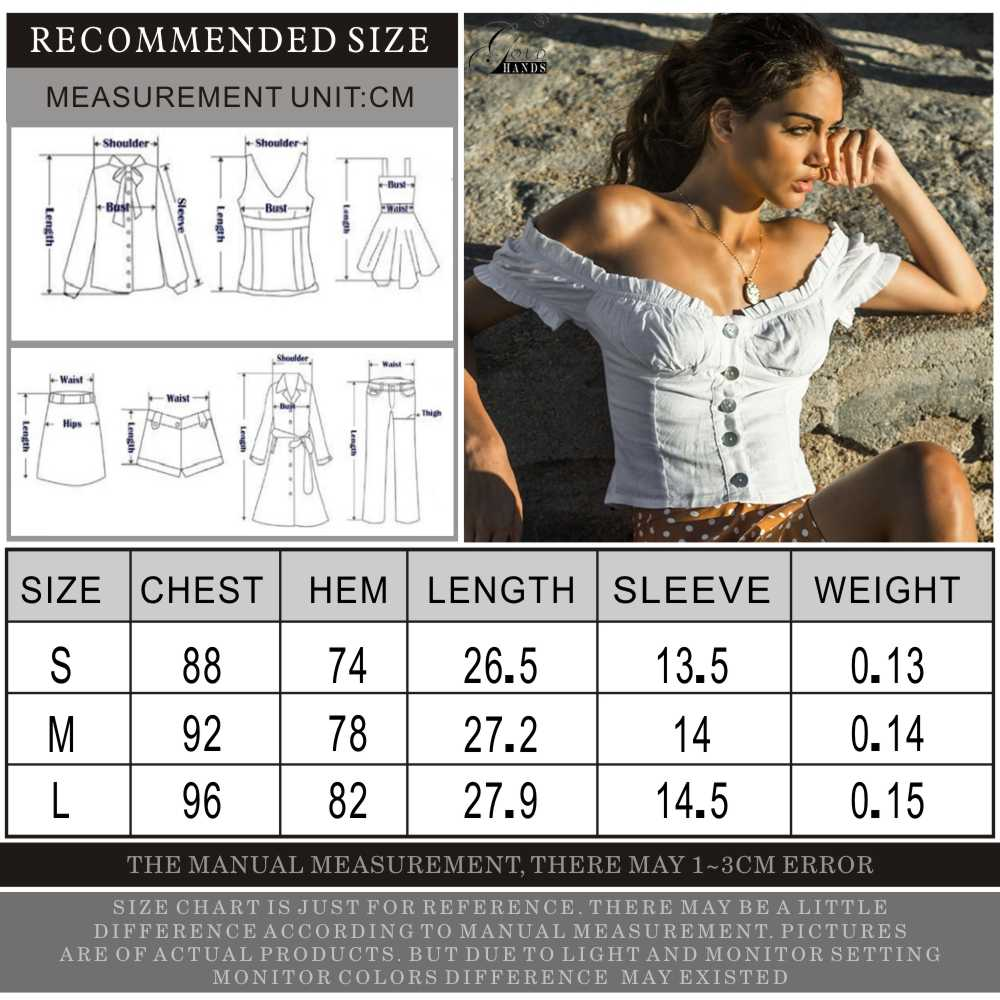 Gold Hands 2019 Summer Sexy Off Shoulder Women Crop Tops and Blouse Casual Ruffle White Cotton Shirt Holiday Beach Short Bloues