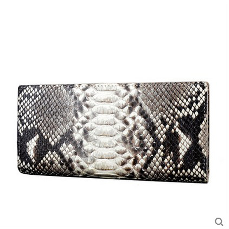 jialante Python skin women wallet female long style real snake leather manual super thin simple multi-card female clutch bag gete new python leather women handbag lady real snake dinner women purse large capacity grab bag girl women cluth bag wallet