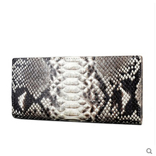 jialante Python skin women wallet female long style real snake leather manual super thin simple multi-card female clutch bag