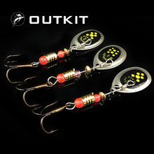OUTKIT Fishing Spinner Spoon Bait 2.5g Sinking Bass Perch Metal Lures Spinnerbait Tackle Artificial Casting Lead Jig Head Hook(China)