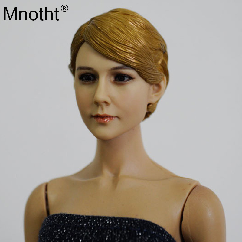 Mnotht 1/6 Scale Female Head Sculpt KM13-46 toy Carey Mulligan Short Hair Girl Head Carving Model for 12'' soldier Action Figure female head sculpt model popular 1 6 scale beautiful girl head carving for 12 female action figure body model doll toys