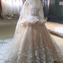 Fsuzwel Glamorous Appliques Wedding Dress 2019 Long Sleeve