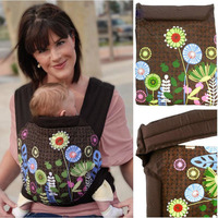 3 In 1 MEI TAI Baby Carrier Flower Embroidery Pattern Design Newborn Sling Wrap Front Back