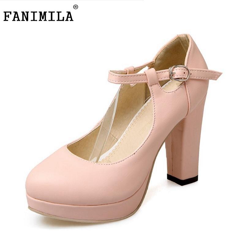size 34 43 female thick high heels shoes women platform. Black Bedroom Furniture Sets. Home Design Ideas