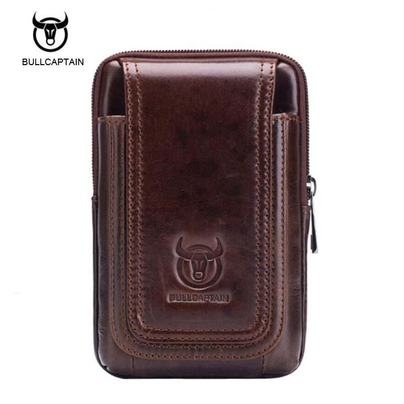 Men Bag Waist Packs Oil Wax Genuine Leather Bags Fashion Fanny Packs Small Men Waist Pouch Belt Clutch Vintage Travel Bag