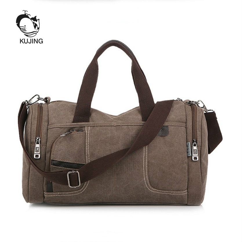 KUJING Fashion Canvas Bag High-grade Retro Canvas Men And Women Shoulder Bag Cheap Luxury Travel Men Bag Hot Casual Women Bag kujing canvas men s bag high quality cowboy large capacity travel men handbag retro shoulder messenger bag luxury men casual bag