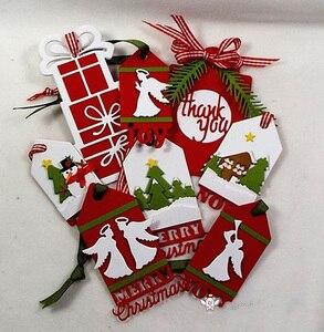 Image 5 - Manualidad de cerdito troqueles de corte de metal Plantilla de corte 8 Uds decoración navideña manualidades de papel de álbum de recortes cuchillo molde de cuchilla perforadora de plantillas die