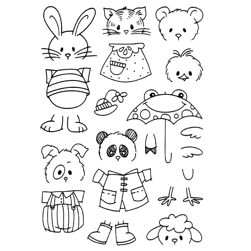 CUTE CATE PANDA DOG FACE DIY Scrapbook DIY photo cards account rubber stamp clear stamp transparent stamp Handmade card stamp spider texture background scrapbook diy photo cards account rubber stamp clear stamp transparent stamp handmade card stamp