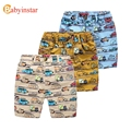 Babyinstar Cartoon Car Pattern Baby Boys Shorts Children's Cotton Trousers Summer Fashion Outwear for 3-10Yrs Boys Casual Shorts