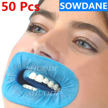 50 Pcs Disposable Dental Rubber Dam Cheek Retractor for Dentist Surgery Use Natural Rubber Barrier Sterile Control for Isolation 500 pcs disposable dental ray barrier envelopes protective pouch cover bags for phosphor plate dental digital ray scan 33x44mm