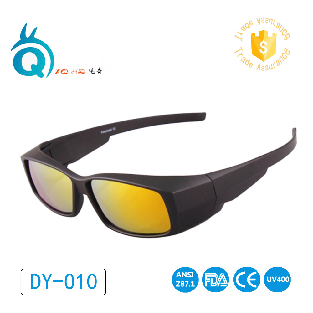 Polarized Lens Covers Sunglasses Fit Over Sun glasses Wear Over Myopia For Outdoor Racing