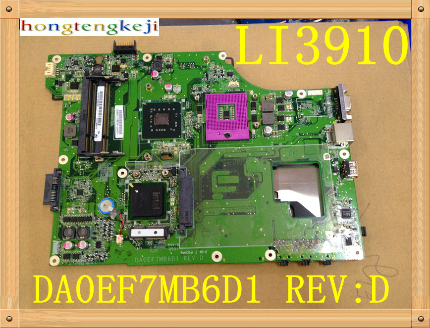 Original FOR Fujitsu Siemens Amilo Li3910 Mainboard Motherboard DA0EF7MB6D1 ully tested wzsm new laptop dc power jack for fujitsu siemens amilo m1420 m1425 k7600