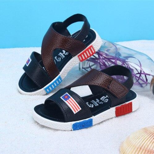 Летние Дети обувь Мальчиков Обувь Новая мода Повседневная Обувь Пляжные Сандалии Для Детей