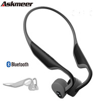 ASKMEER Bone Conduction Headset Bluetooth 5.0 Headphones Fast Charging Wireless Sports Earphone Bass Stereo Casque With 360 Mic