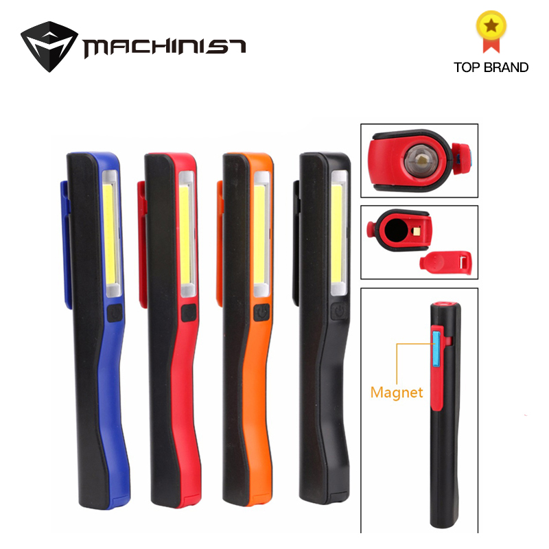 LED Multifunction Mini Pen Light 2-Mode COB Flashlight Torch Light Magnetic Auto Car Work Inspection Pocket Light Random Color
