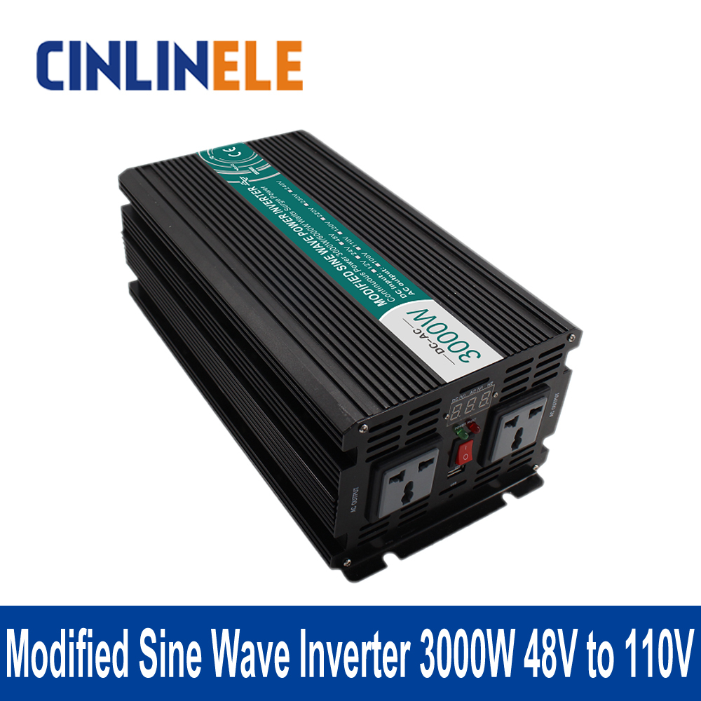 Подробнее о Modified Sine Wave Inverter 3000W CLM3000A-481 DC 48V to AC 110V 3000W Surge Power 6000W Power Inverter 48V 110V 1200w 48v to 120v watt power inverter 48v inverter 120v power inverter modified sine wave form dc ac house power inverter 1200