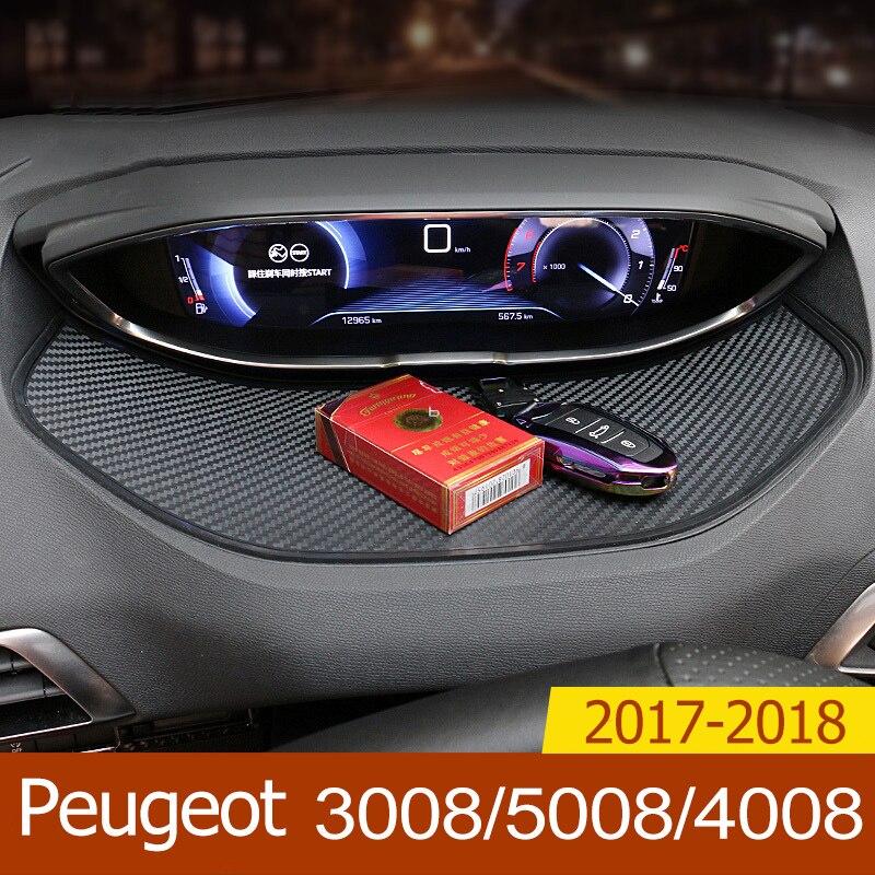 Für Peugeot 3008 5008 GT 2016 2017 2018 2019 Gummi Auto Dashboard Klebrig Anti-Slip Pad Display Anti- skid Meter Matten Zubehör