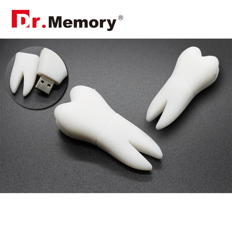 Dr.Memory White Tooth USB Flash Drive 32GB Pen Drive Cute 64GB Memory Stick USB Drive Pen hot saleve personality U Disk Pendrive cute flip flops style usb flash disk yellow white 8 gb href