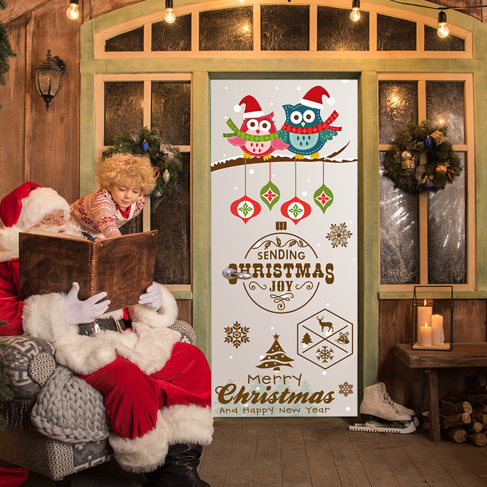 Christmas Street Sign Door Cover Holiday Covers Decoration 30 Inch By 6.5 Feet wall stickers for kids rooms adesivo de parede