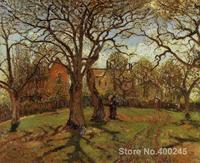 Canvas Art Reproduction Chestnut Trees, Louveciennes, Spring Camille Pissarro Paintings for sale hand painted High quality