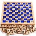 -100 Digital placa de madeira materiais montessori montessori matemática brinquedos das Crianças brinquedos educativos lousa digital