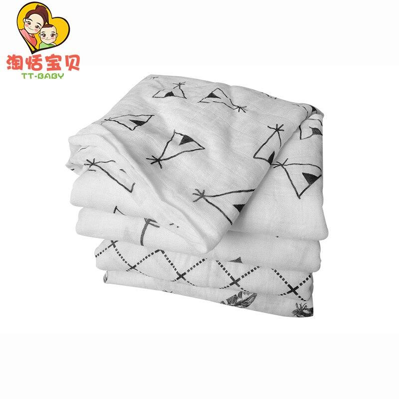 【Black Friday】Muslin Baby Swaddle Bamboo Fiber Blanket For Toddler Baby Wrap Infant Bedding Gauze Bath Towels Cartoon Blankets
