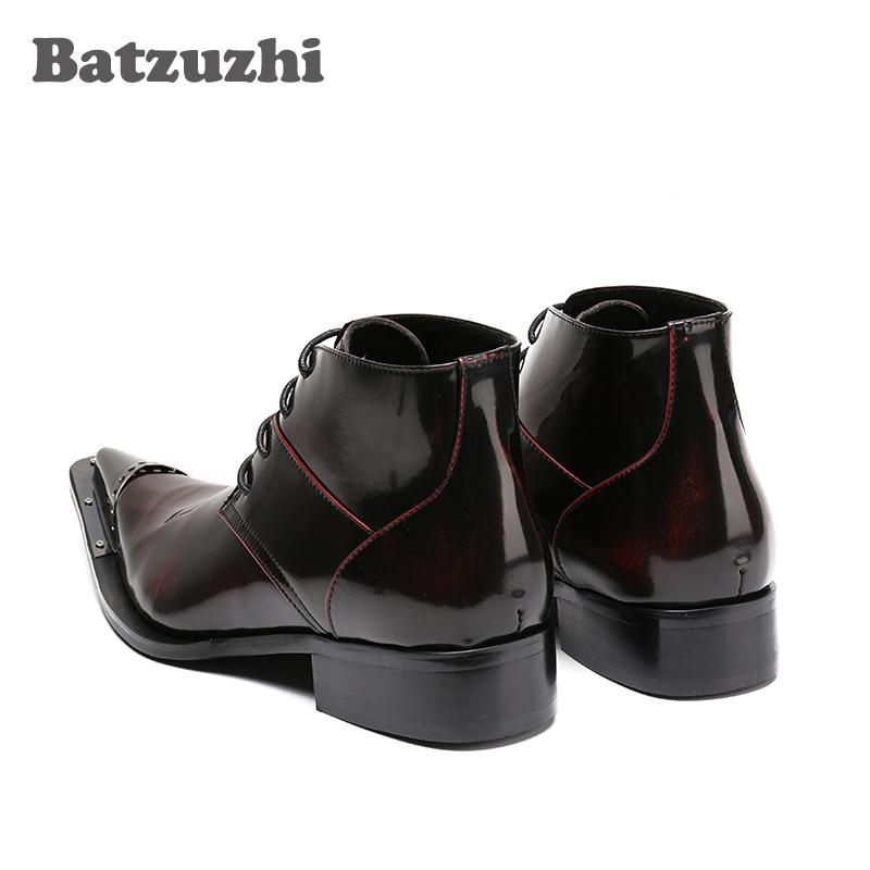 Batzuzhi As Hommes De Dentelle Pointu Cheville Luxe