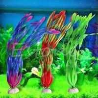 10pcs North America Lan Fish Tank Landscaping Aquarium Ornament Fishes Simulation Thin Strips Water Kelp Grass