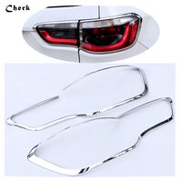 For Jeep Compass 2017 ABS Chrome 4pcs Set Car Styling Rear Tail Light Lamp Cover Taillight
