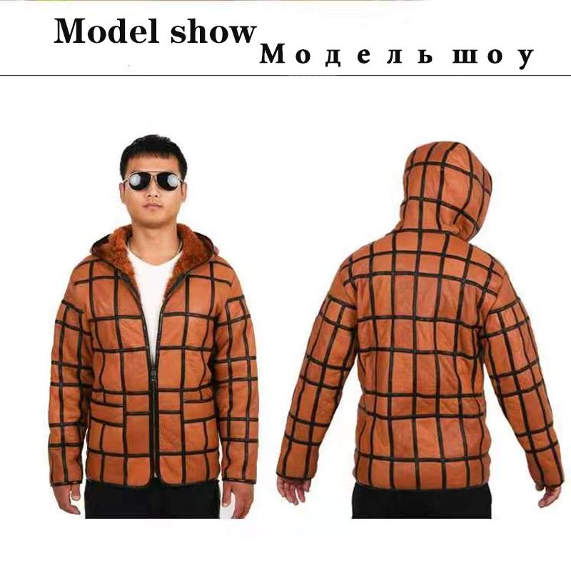 HTB1j18NaHH1gK0jSZFwq6A7aXXa8 2020 new warm men's fur coat plus hat men's 100% real sheepskin coat, men's suit, leather jacket, thick, size custom