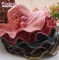 Sombreros para el sol Para Las Mujeres 2016 de La Manera flores de la onda de la raya Sombrero UV visera se puede plegar a lo largo del sol de verano Playa Sombrero para el Sol sombrero