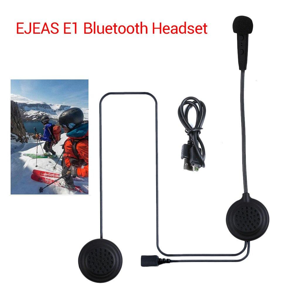 EJEAS E1 Motorcycle Helmet Interphone Bluetooth 4.1 Intercom Wireless Headset HD Sound Phone Call Hand Free Earphone