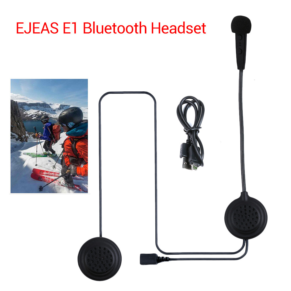 EJEAS E1 Motorcycle Helmet Interphone Bluetooth 4.1 Intercom Wireless Headset HD Sound Phone Call Hand Free Earphone