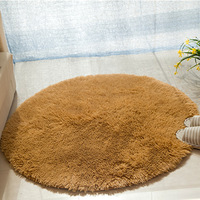 Solid Soft Bathroom Carpet Mat Rug Round 1 PCS Anti Slip Bath Mats Rug In The