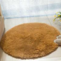 Sólido suave baño alfombra redonda 1 piezas Anti-Slip de baño alfombras alfombra en el baño alfombrillas de Alfombra para baño Alfombra