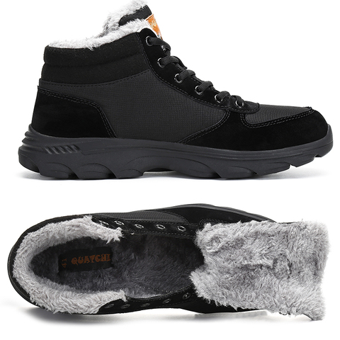 Warm Boots Men Winter Plush Snow Boots Outdoor Safety Shoes Cotton Men Shoes Waterproof Military Boots Adults Ankle Botas Hombre Lahore