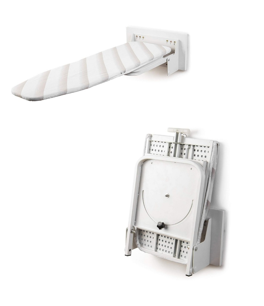 Wall Mounted Flap Folding Rotatable Ironing Iron Board Concealed Household