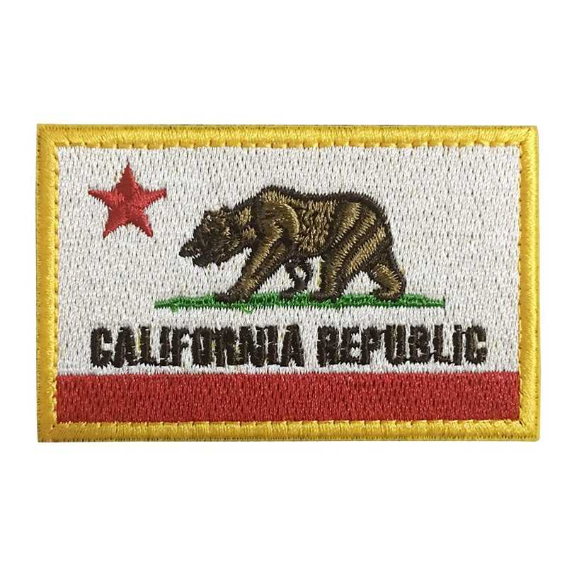 Embroidery Patch USA California State Flag Morale Patch Tactical Emblem  Badges Appliques Embroidered Patches For Jacket 346a4e5d44b2