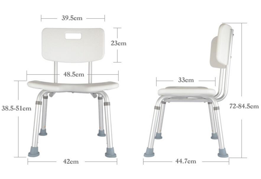 Professional Adjustable height bathroom chair skidproof bath stool for Patients the Old and Pregnant woman seduced by death – doctors patients