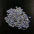 4-4.5mm round tiny moonstone rainbow color semi precious loose stone diy ring earrings pendant charm cabochon 4110117