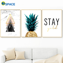 Abstract Marble Geometric Pineapple Quote Wall Art Canvas Painting Nordic Posters And Prints Pictures For Living Room Decor