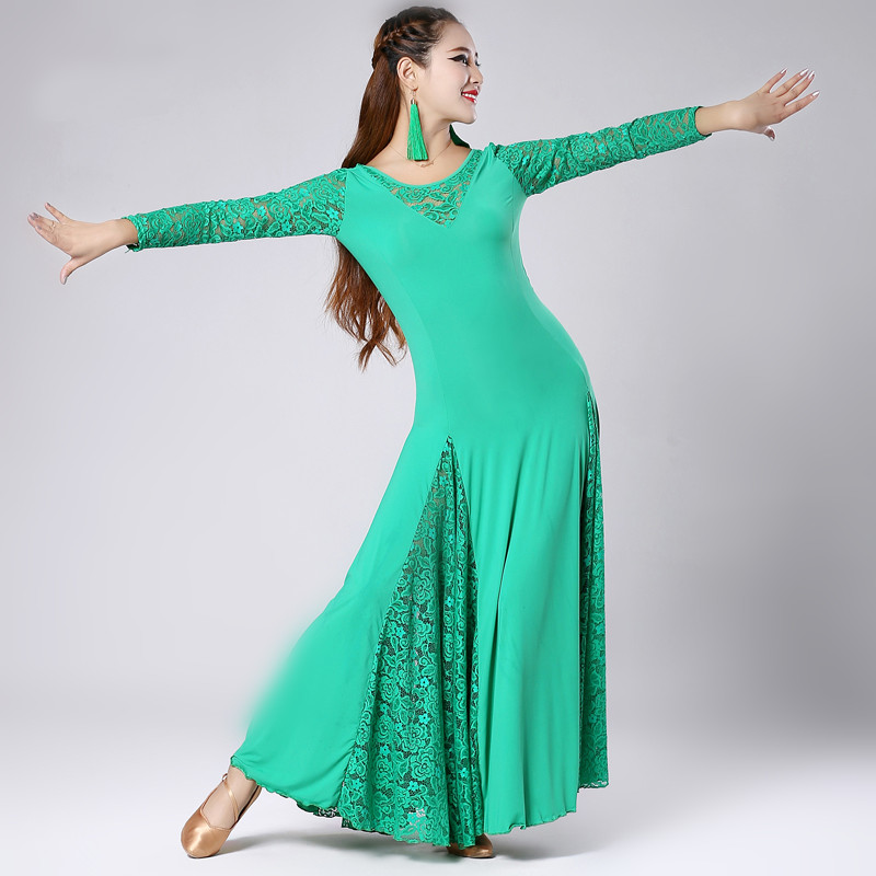 50ae9974e multi color big hemlines flamenco lace ballroom dance competition ...