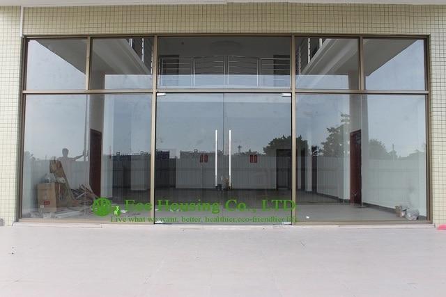 China fabricante comercial exterior puertas de vidrio sin marco para ...