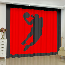 Basketball Player curtains for window Kobe Bryant Michael Jordan finished drapes window blackout curtains parlour room blinds(China)