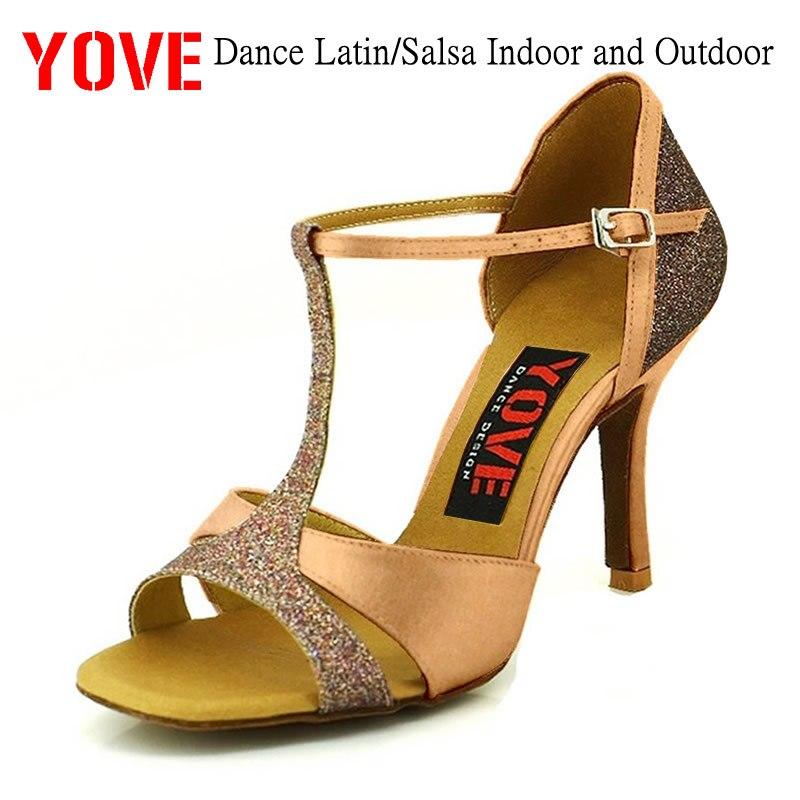 YOVE Стиль w136-5 Обувь для танцев латинские/Salsa внутренних и наружных Для женщин Обувь для танцев