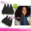 6A Brazilian Afro Kinky Curly Virgin Human Hair Extensions Unprocessed 3 Pcs Mixed/Same Length Cheap Kinky Curly Human Bundles