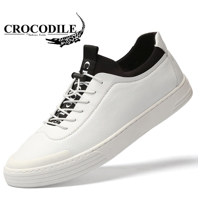 Crocodile Skateboarding Shoes Original Men Sneaker Leather Jogging Flat Tennis Hombre Athletic Sport off White