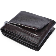 DANJUE Genuine Cow Leather Mens Wallet
